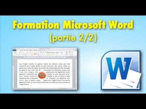 Cours Formation Microsoft Word Partie 22 Bureautique
