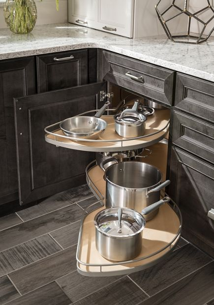 Blind Corner Base With Pull Out Storage Creme Kitchen
