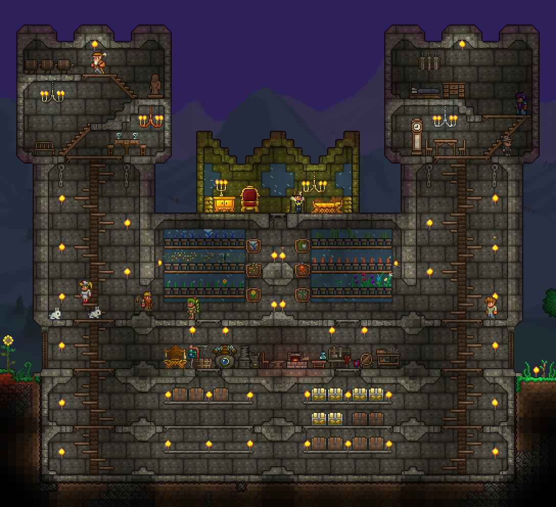 I Started A New Expert Mode Playthrough Just Finished My Base Terraria