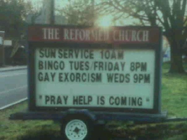 bingo AND gay exorcism...