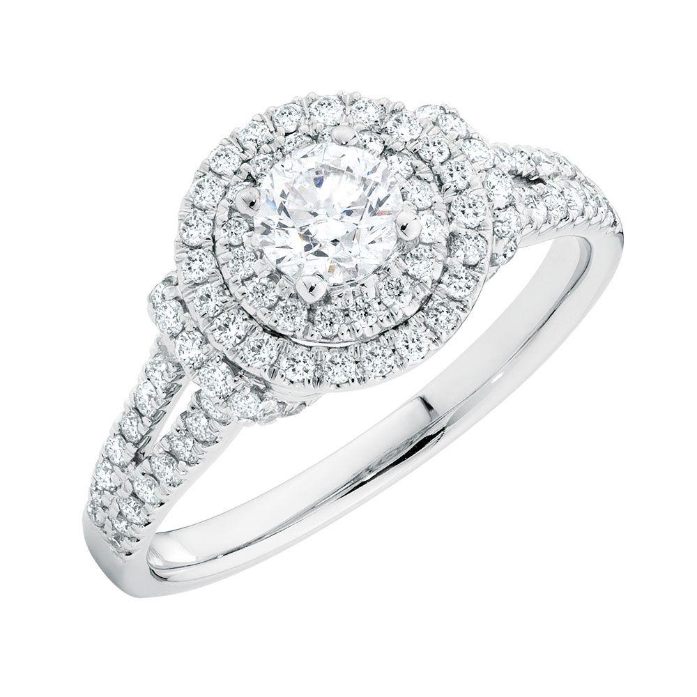 1 carat engagement ring 14kt gold michael hill