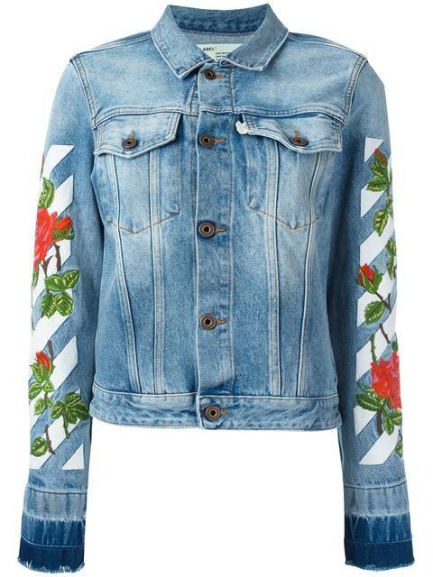 75369cbd32ae OFF-WHITE Roses Embroidery Denim Jacket.  off-white  cloth  jacket ...
