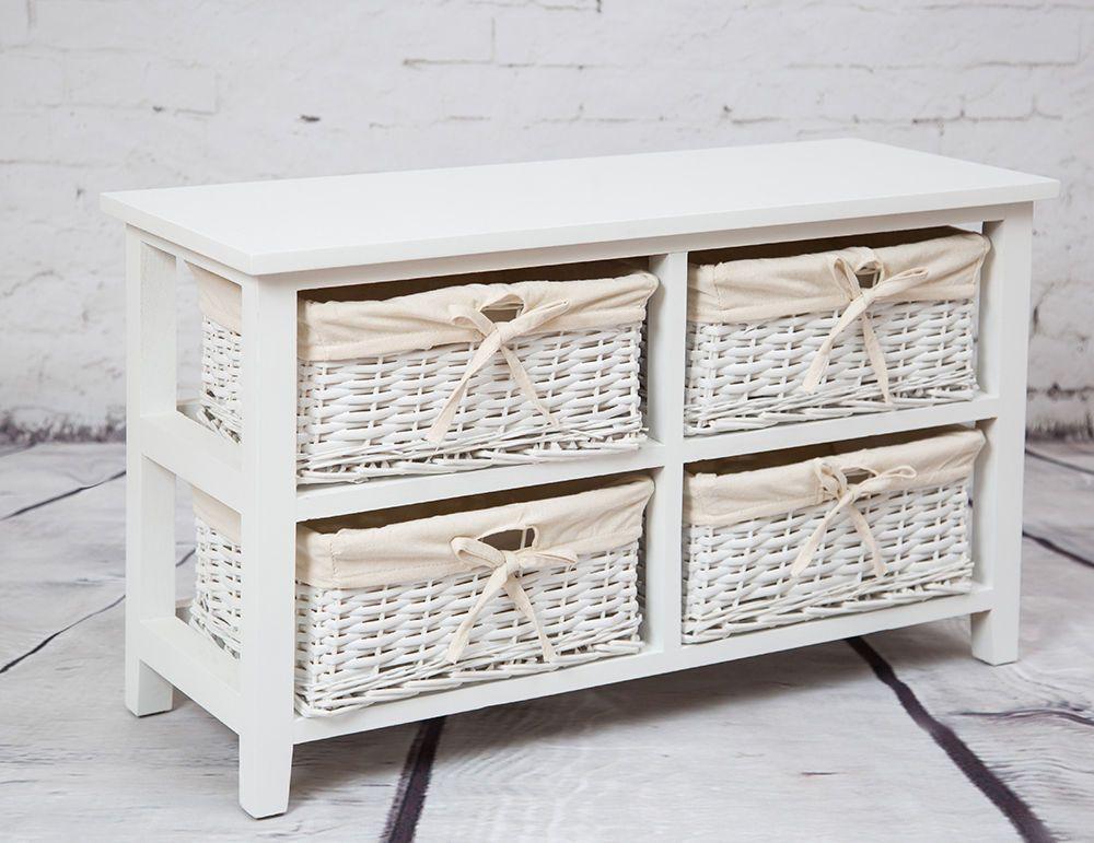 Wicker Baskets White Living Room Tv
