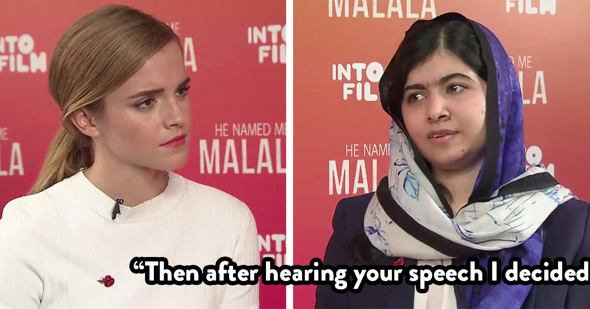In an interview with actor Emma Watson, Malala Yousafzai