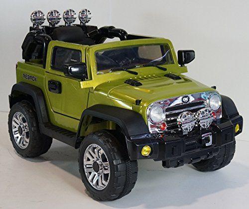 New Jeep Jj 4x4 Style 12v Battery, 2 Motors, Mp3, Remote