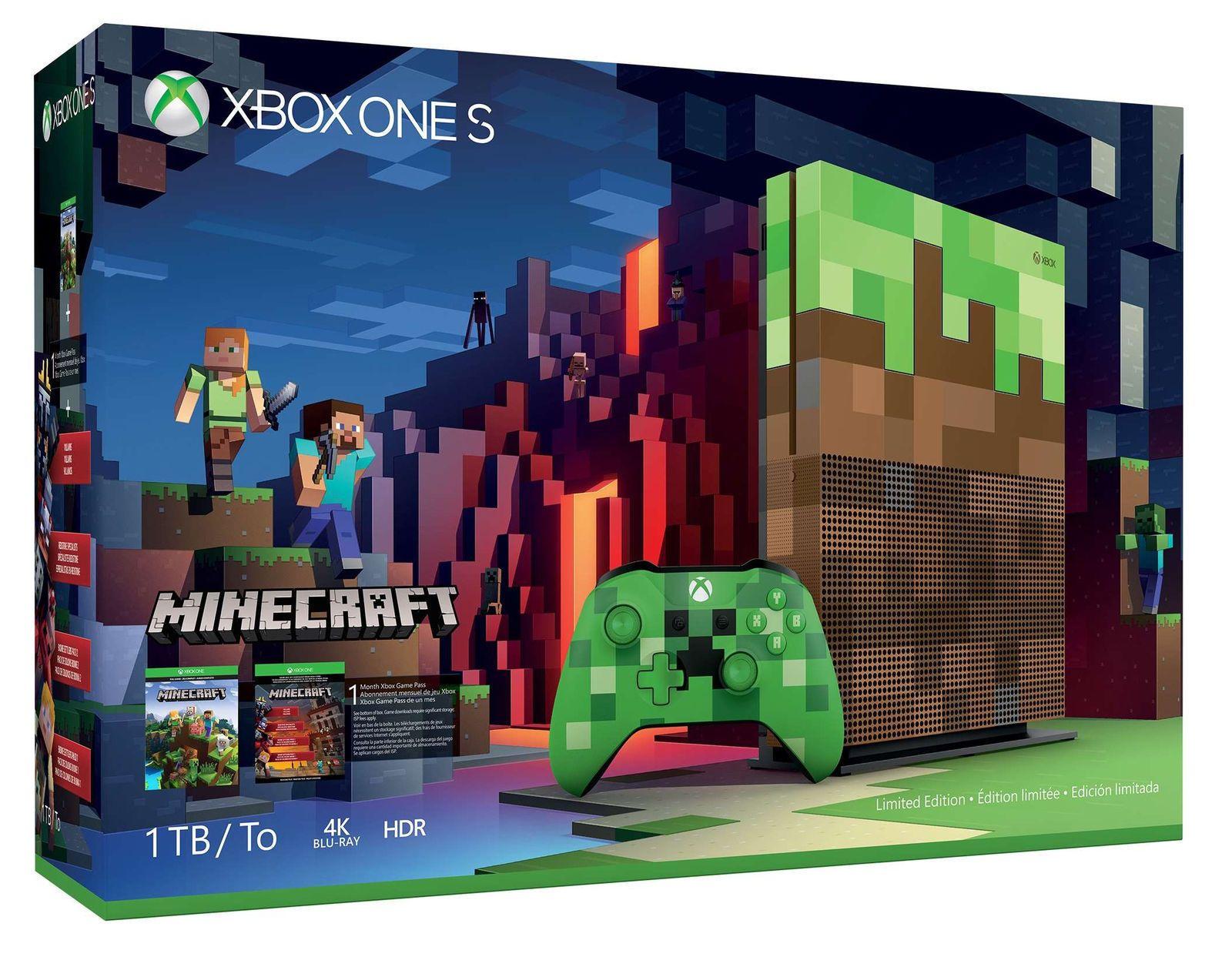 Xbox One S 9tb Console - Minecraft Complete Adventure Bundle NEW