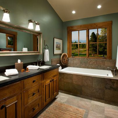 Honey Oak Cabinets Design Ideas Pictures Remodel And Decor Bathroom Color Schemes Green Bathroom Country Style Bathrooms