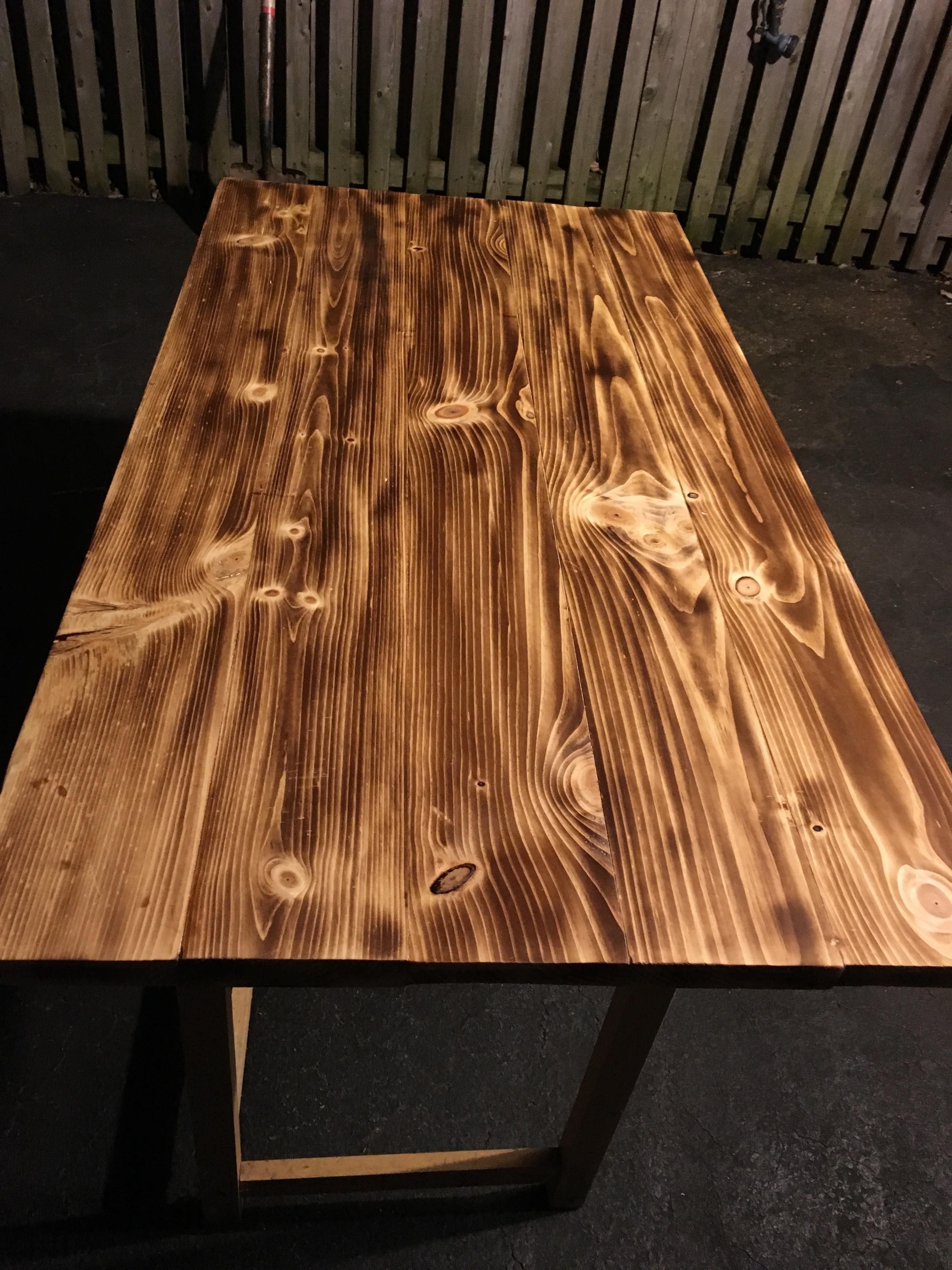 My Pine Wood Burnt Table Top Saw A Post On Here With The Burnt