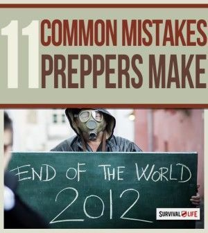 11 Common Mistakes Preppers and Survivalists Make. Emergency Preparedness tips teach you survival pitfalls-  what they are and how to avoid them. | Survival Gear and Prepping Ideas | Survival Life  http://survivallife.com/2015/01/05/prepper-mistakes-to-avoid/