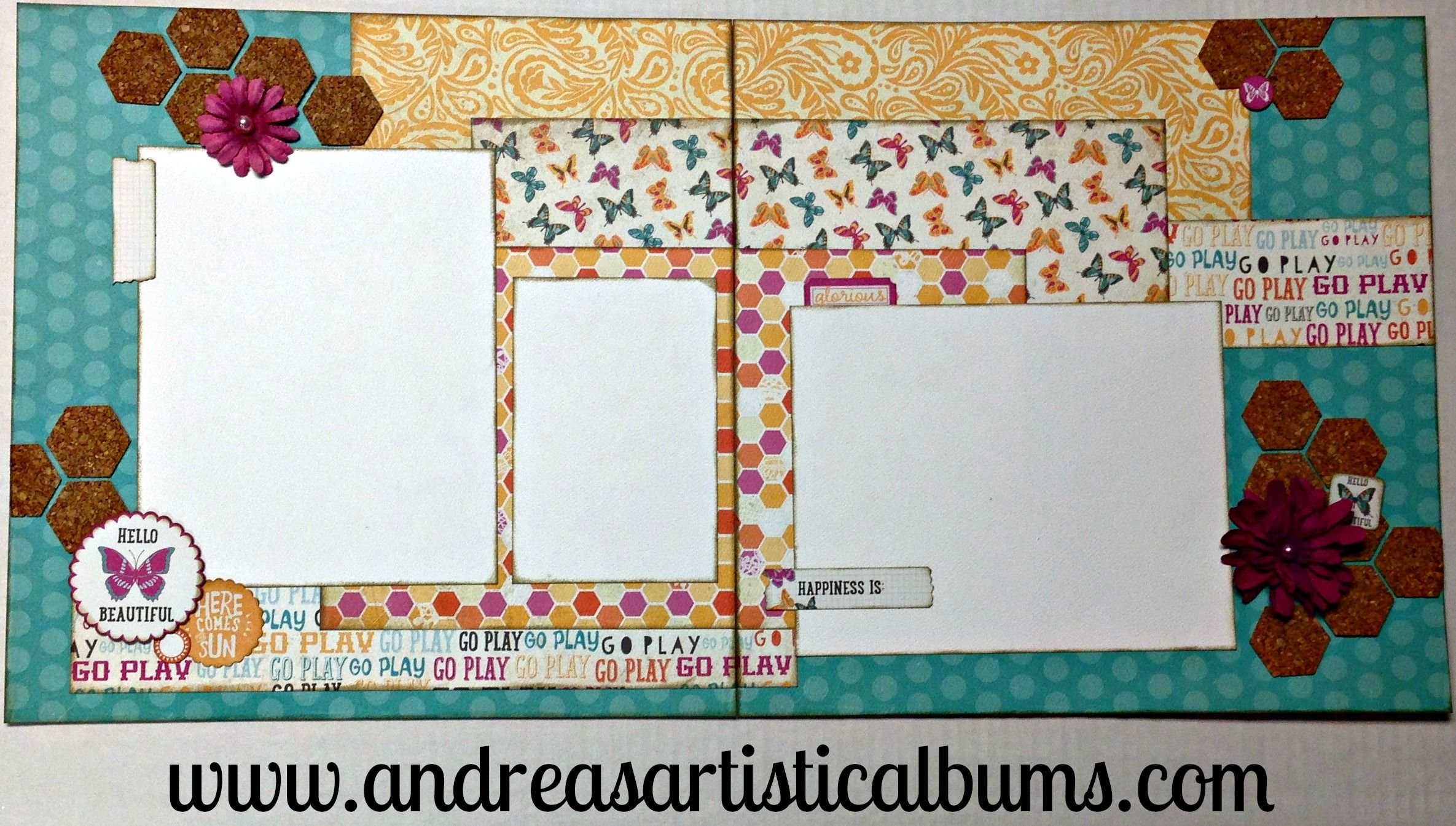 Scrapbook ideas with flowers - Summer Scrapbook Layout With Cork And Flowers From Bobunny Featuring Beauthentique Radiant Collection