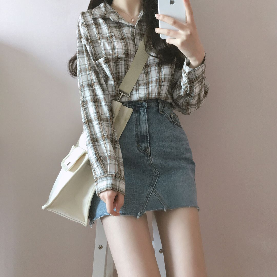Gangster flannel shirts  체리콘 디데이걸 dailylook daily ootd  Clothes  Pinterest
