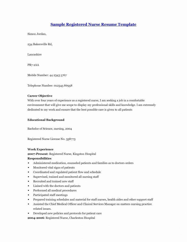 M Sc Nursing Resume Format Resume Format Registered Nurse Resume Nursing Resume Nursing Resume Template