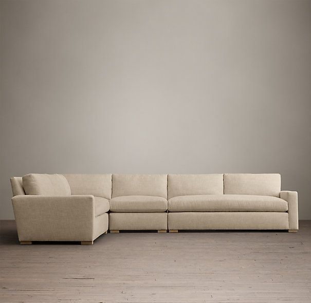 The Petite Maxwell Upholstered L Sectional Sectional Upholster Perennials Fabric