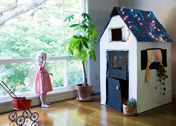DIY Casa de cartón para niños | Manualidades casa juegos para niños ...