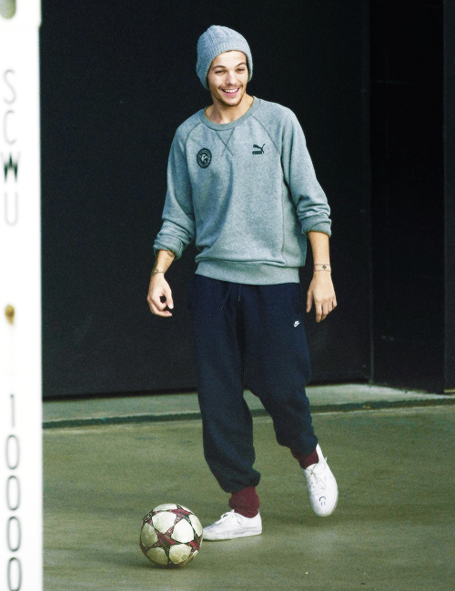 Louis playing football in Perth! ...