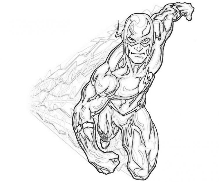 The Flash Coloring Pages