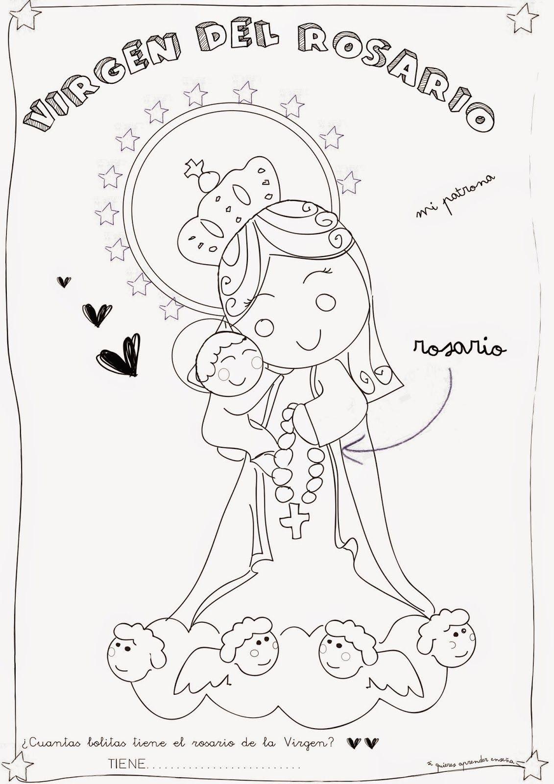 Virgen del Rosario | porcelana fria | Pinterest | El rosario ...