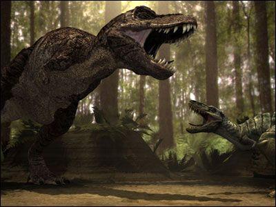 TRex and a Nanotyranus Dinosaur, Prehistoric animals
