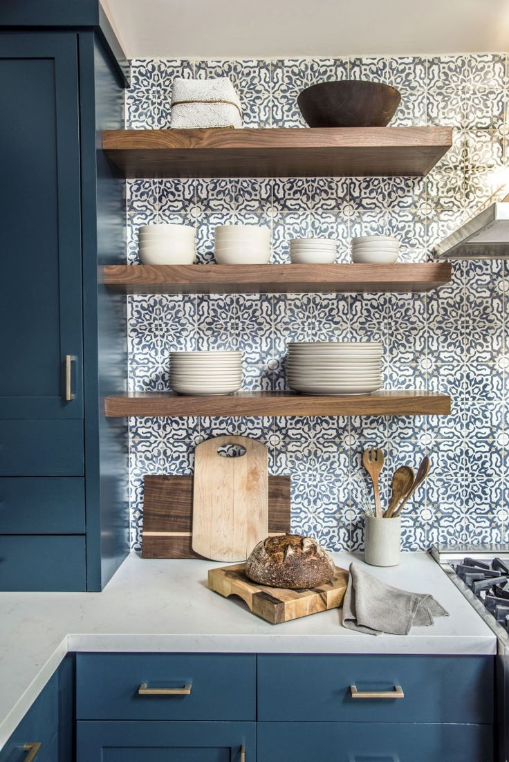 Tour a Serene Home in Mill Vally, California That's Layered With Traveled Goods #kitchenbacksplash
