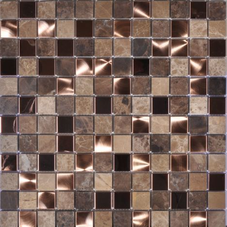 300mm X 300mm Sheet 23mm X 23mm Pieces Delphi Brushed Copper Marble Mosaic Proper Luxury Shimmer Copper Mosaic Copper Mosaic Tile Mosaic Bathroom Tile