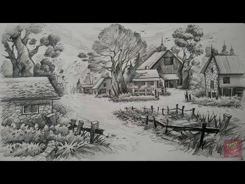 How To Draw And Shade Old Wooden Houses With Pencil Youtube Art Pencil Art Drawings Pencil Drawings
