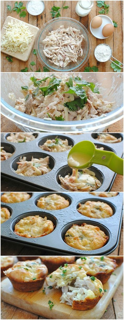 Mini Tex-Mex Chicken and Cheese Pies -
