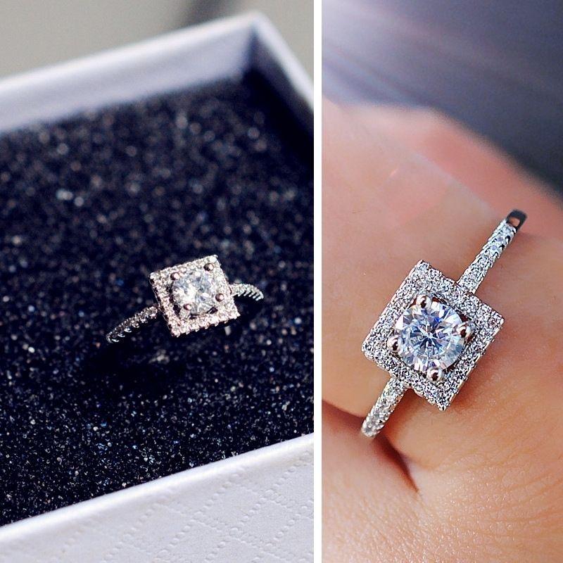 Vogue Square Diamond Ring