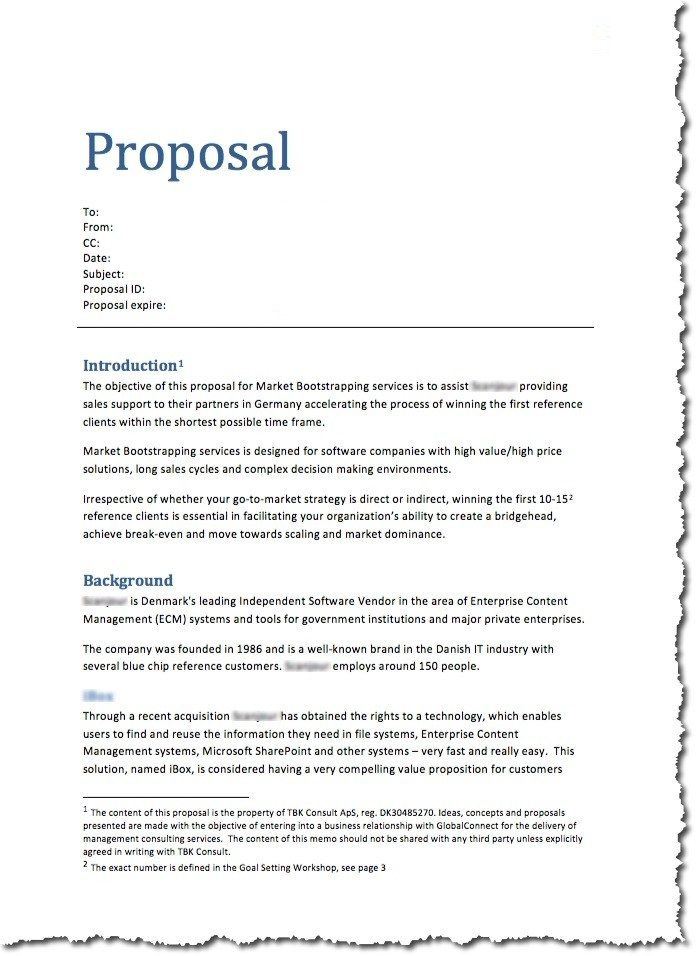 Business Proposal Template Example For Students Formats  Home