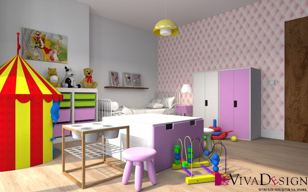 Wizualizacja Pokoju Dziecięcego Projekt Viva Design Przykładowe