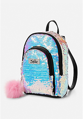 42d1f63742e6 Iridescent Sequin Mini Backpack