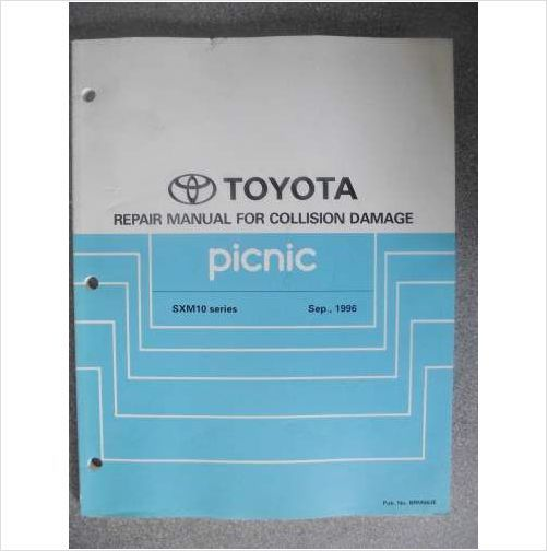 toyota picnic collision damage workshop manual 1996 brm063e on ebid rh pinterest com Toyota Stereo Wiring Diagram 2002 Toyota Tacoma Wiring Diagram