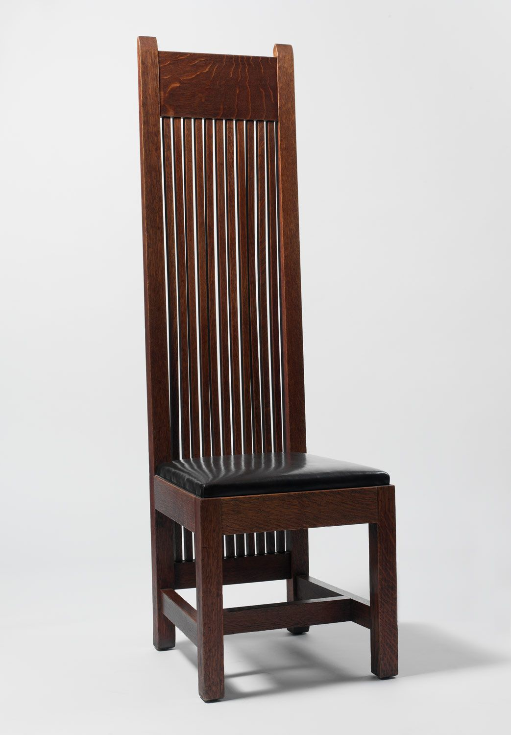 side chair maker frank lloyd wright american richland center wisconsin 1867 1959 phoenix. Black Bedroom Furniture Sets. Home Design Ideas