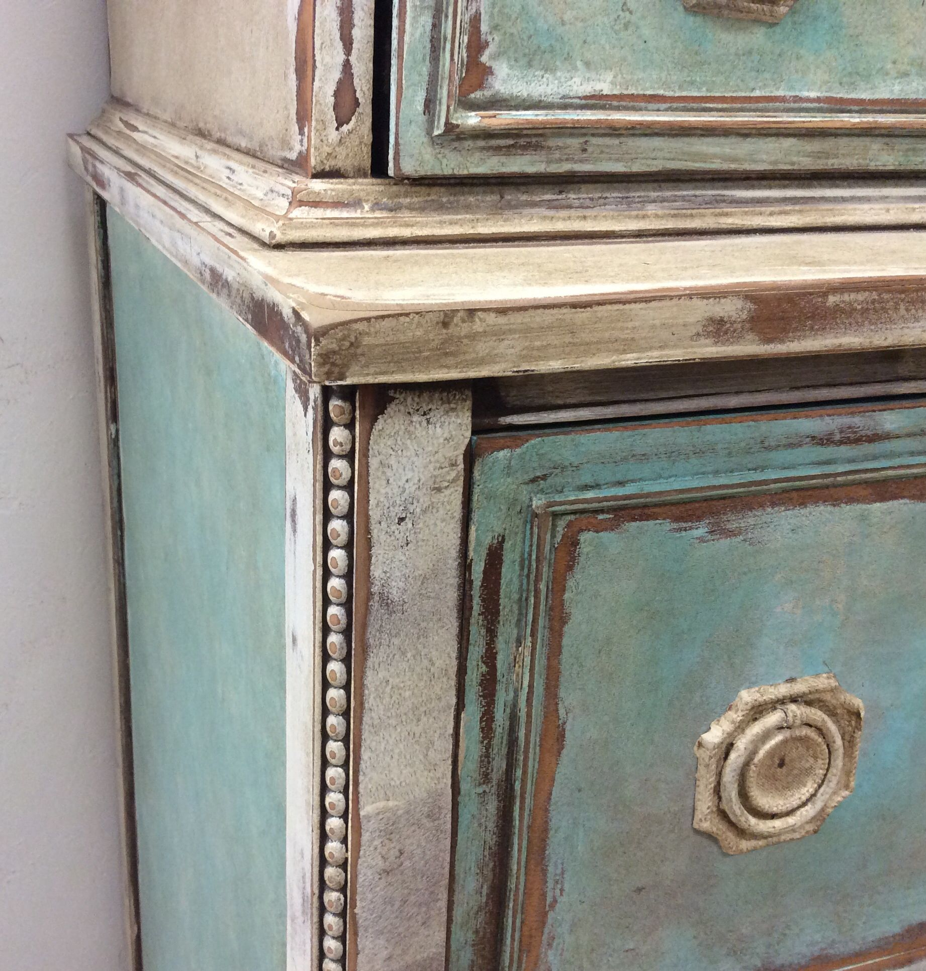 Detail Of Delightful Vintage Chest On Chest Created