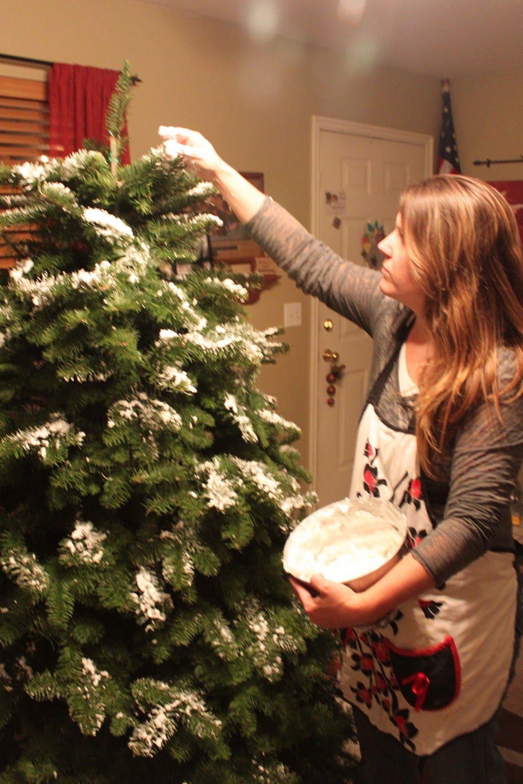 Homemade Christmas Tree Flocking Homemade christmas tree