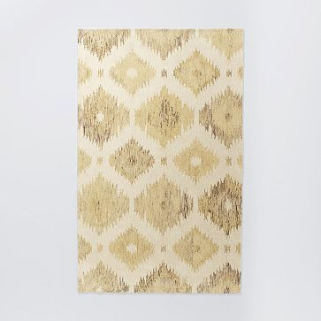 Blur Ikat Rug - Soot #westelm, size 9' x 12' hand tufted, 100% cut-pile wool.  Does not include shipping. Made in India