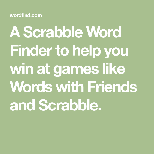 Scrabble Wordfinder Deutsch