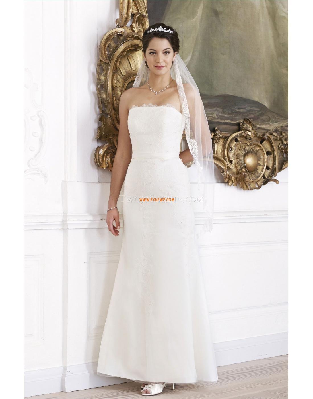 Sheath/Column Spring 2014 Sleeveless Traditional wedding dresses