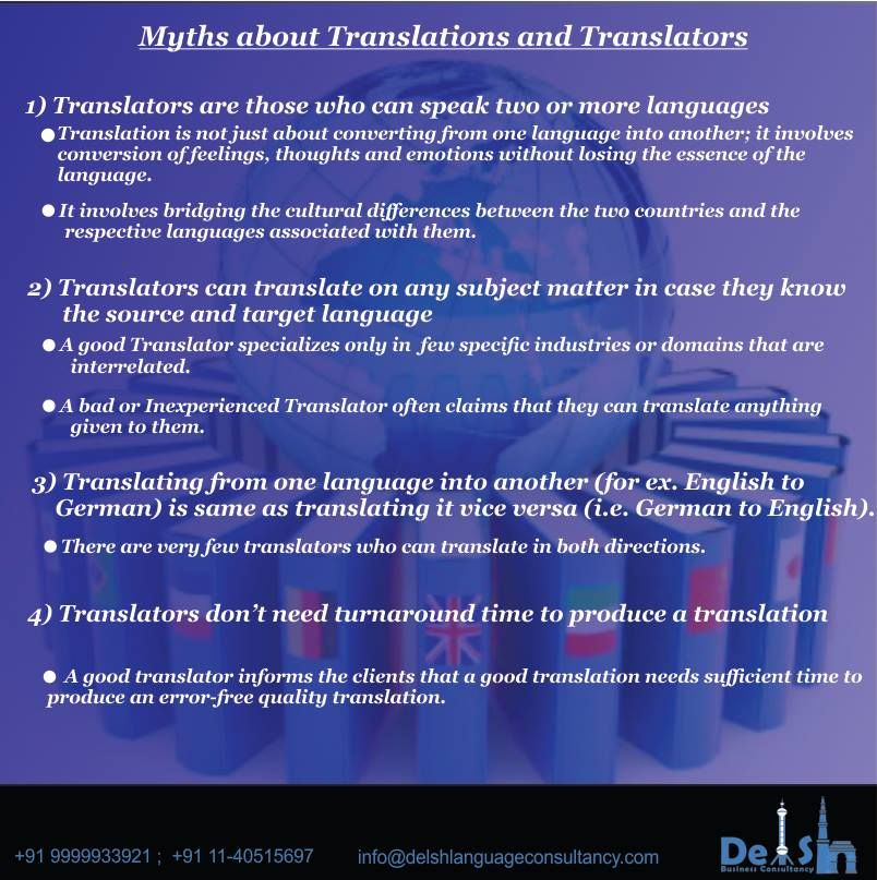 TranslationTranslatorMythsandFacts
