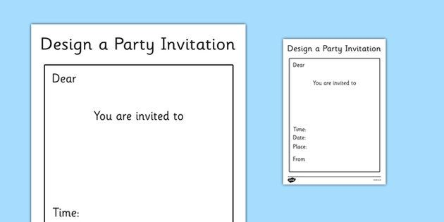 Pin By Myrto On For Classroom Use    Party Invitation
