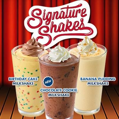 Zaxbys Signature Shakes I Tried The Birthday Cake Milkshake And Ohit Was So Good Cant Wait To Try Other Two Some Time Later This Year
