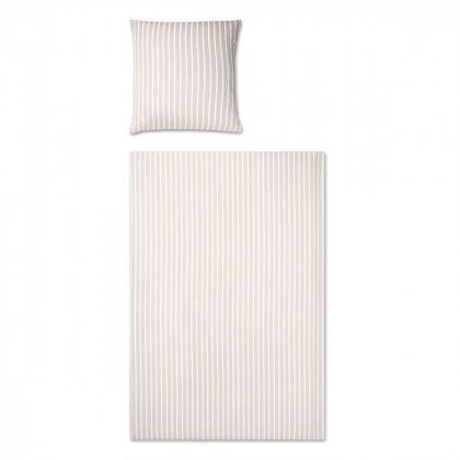 beds #bedlinen Elegante Seersucker Bettwäsche Edge sand 240x220 cm - flanell fleece bettwasche kalten winterzeit