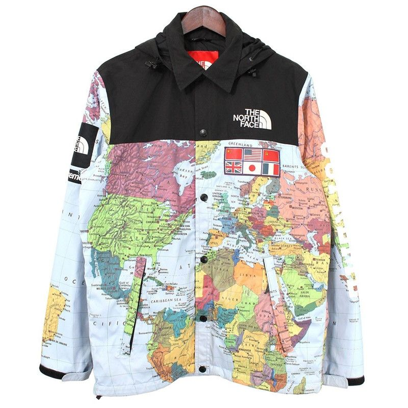Supreme X The North Face Expedition Coaches Jacket Ss14 Long Sleeve Tshirt Men Coach Jacket Jackets