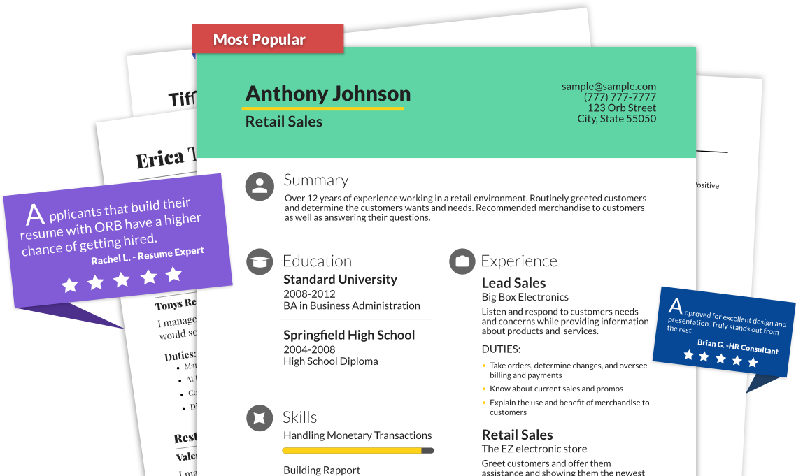 Create A Resume In Under  Minutes With Our Professional Online