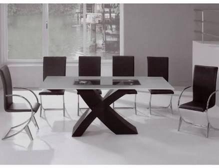 Resultado de imagen para mesa de comedor de vidrio | diseños ...