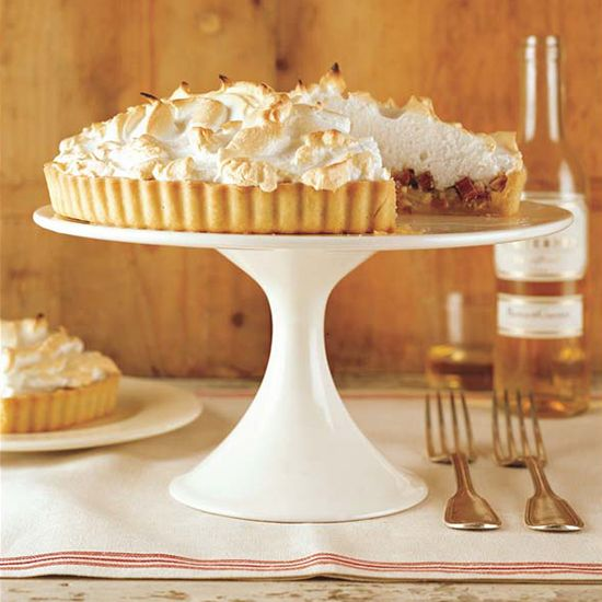 Alsatian Rhubarb Tart // More Fabulous French Dessert: http://www.foodandwine.com/slideshows/french-desserts/1 #foodandwine
