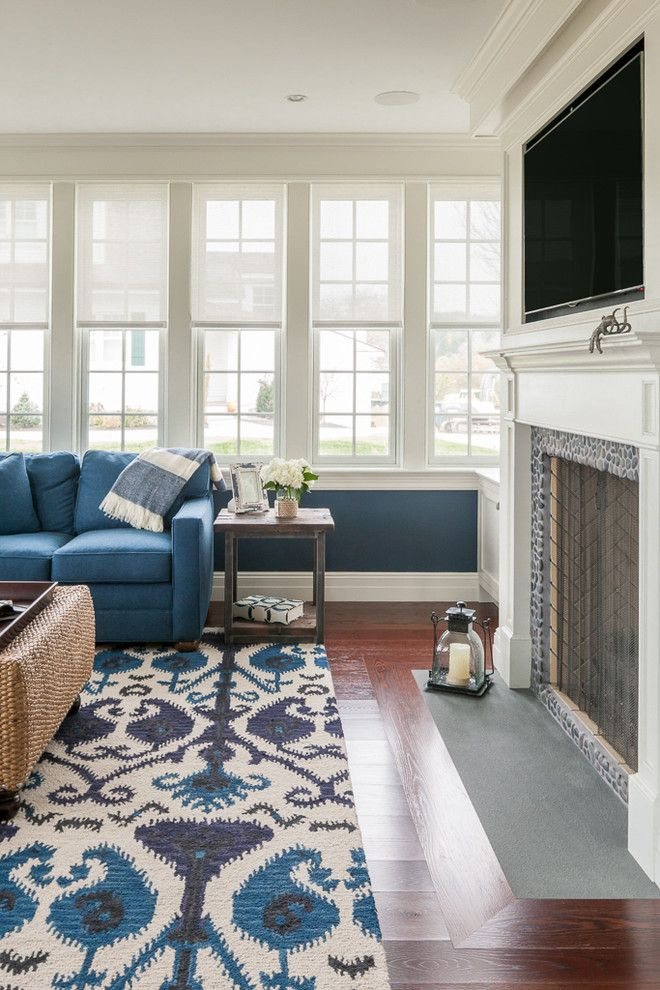Virtual Room Designer Lowes: Impressive Ikat Rug In Family Room Beach Style With