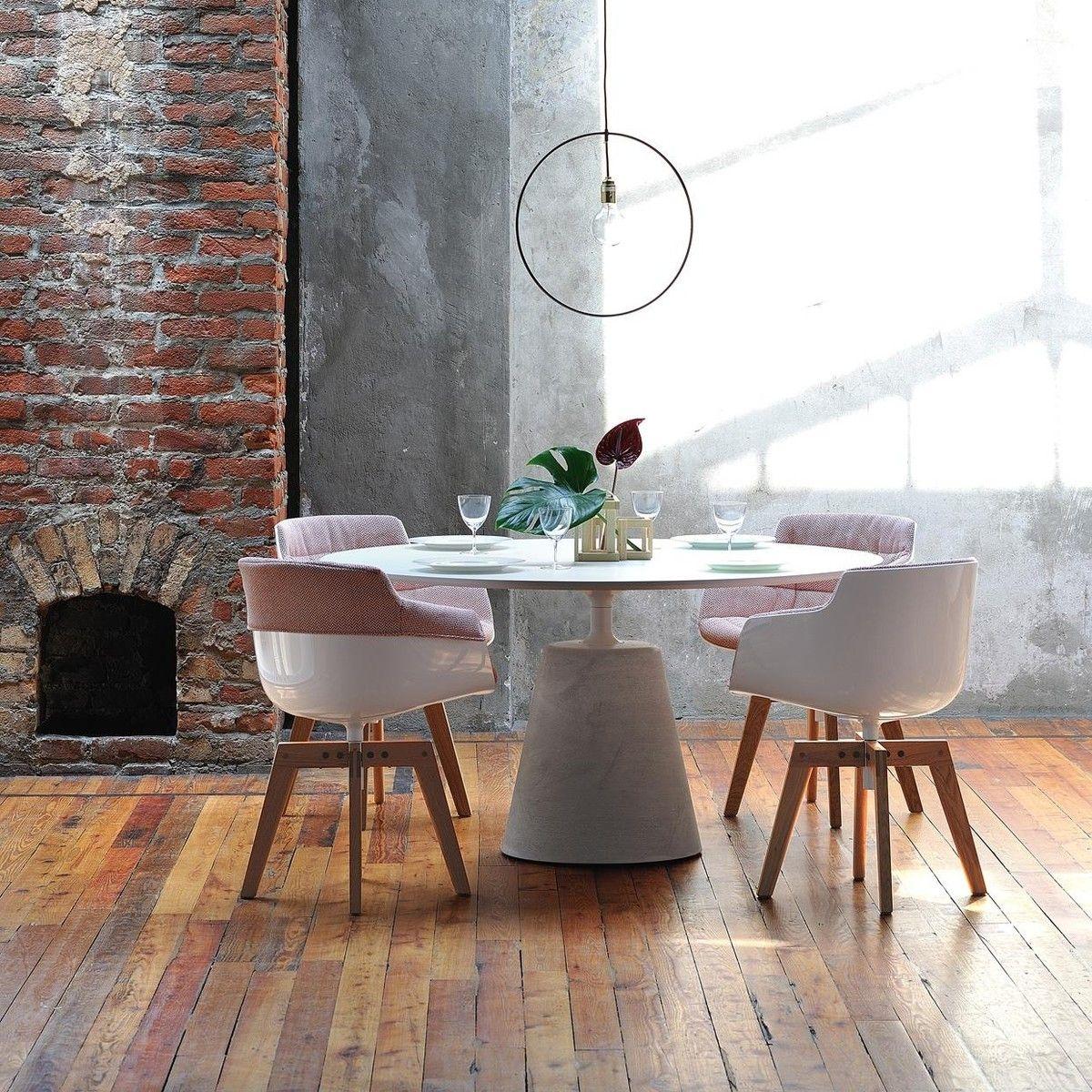 Mdf Italia  Flow Slim New Edition  Fauteuil Capitonné Xl  Home Brilliant Slim Dining Room Tables Design Decoration