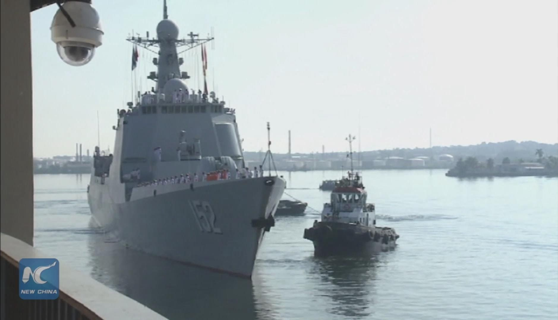 Chinese military flotilla visits Cuba for first time ever