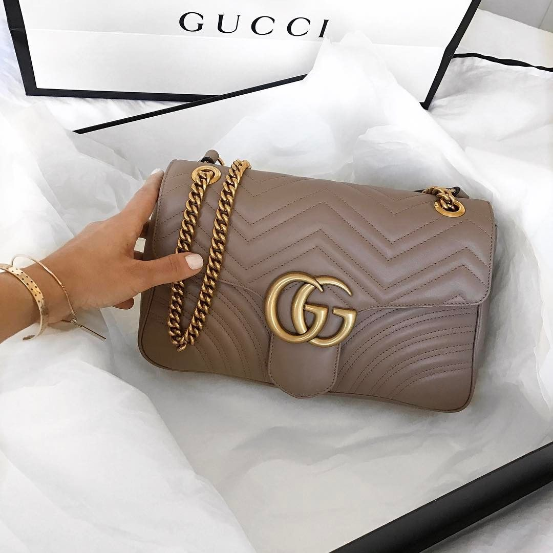 66cd466a28fef9 Nude Gucci 'Marmont' bag | pinterest: @Blancazh | ♤ FASHION & STYLE ...