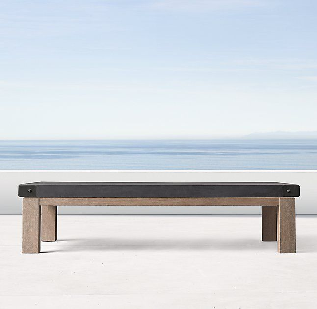 Coffee table at sofa/lounge chair seating group. | Teak ...